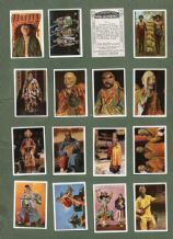 Cigarette cards set Exotic People set 1925  Native Americans, Chinese,and more